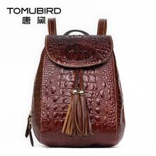 2016 New women leather bag designer brand china wind quality leather alligator grain backpack quality women leather backpack