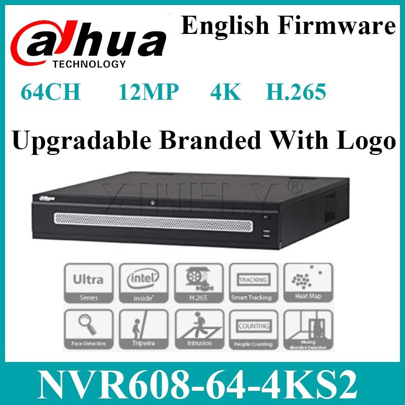 Dahua Original NVR608-64-4KS2 Network Video Recorder Up to 12MP with 8 SATA Interface 64CH Ultra 4K H265 Replace NVR608-32-4KS2