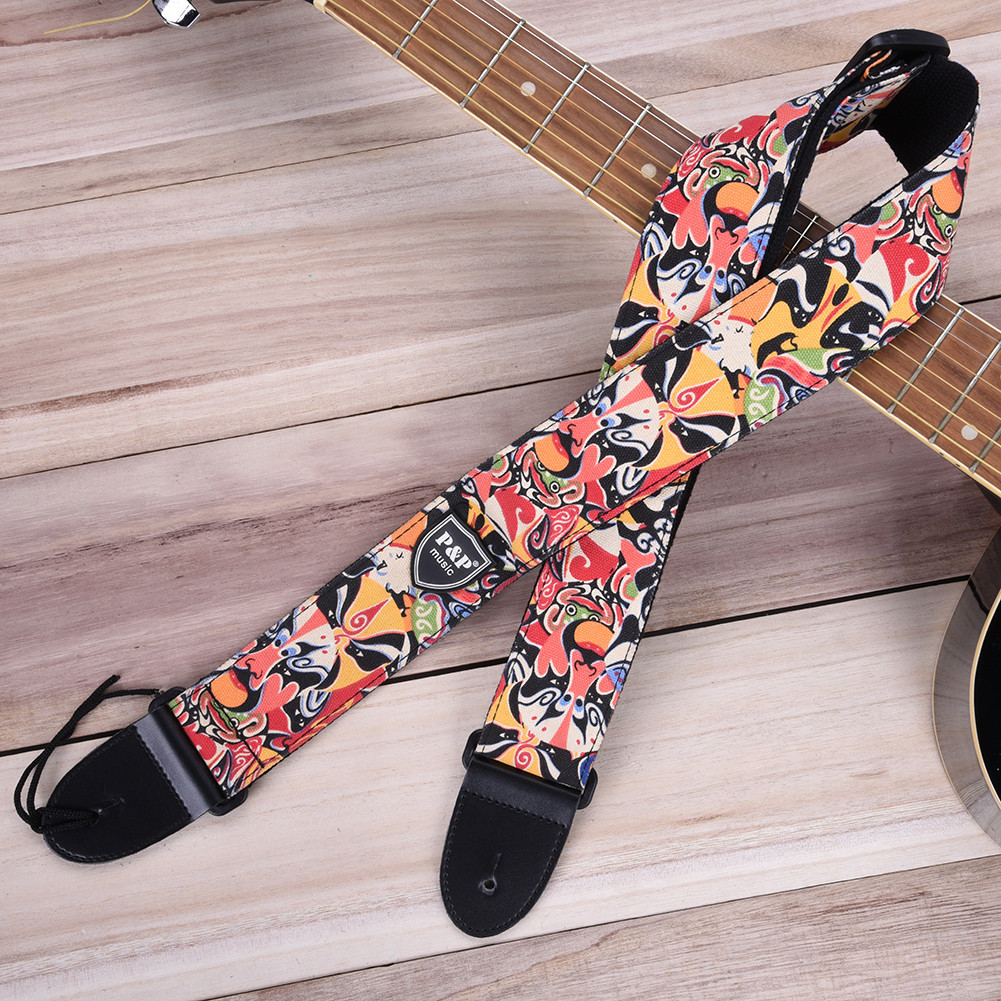 Hot 11 Types High Quality Electric Guitar Colorful Belt Guitar Straps Personalized Printing Guitar Bass Strap Guitarra Accessory new high quality professional guitar strap 100