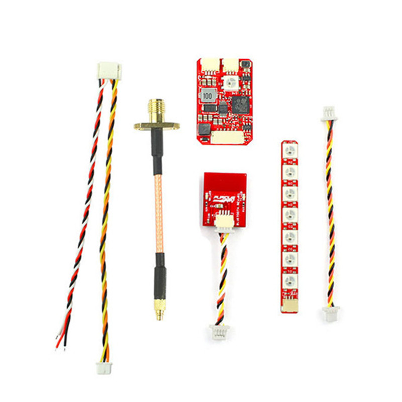 FuriousFPV Combo Stealth Long Range FPV VTX 700mW with LED Strip & Bluetooth Module for RC Drone Models Multicopter Spare Part furiousfpv combo stealth long range fpv vtx 700mw with led strip and bluetooth module for rc drone racing quadcopter fpv parts