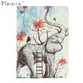 Hot-venda mosunx padrão elefante pintado suporte de couro flip case capa para ipad air 2 presentes