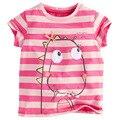 1-6 Años Los Niños de la Marca Camiseta de Las Muchachas de La Raya t Shirt Camiseta del bebé de Manga Corta camisetas ropa Niños verano