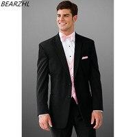 Moda mężczyzna garnitur wysokiej jakości dla groom smokingi czarny krawiec sukienka 3 sztuka garnitury garnitury do ślubu
