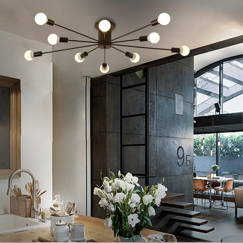Kreative Schwarz Weiss 10 Kpfe Deckenleuchte Bar Wohnzimmer Mode Persnlichkeit Schlafzimmer Sterne Moderne Einfac