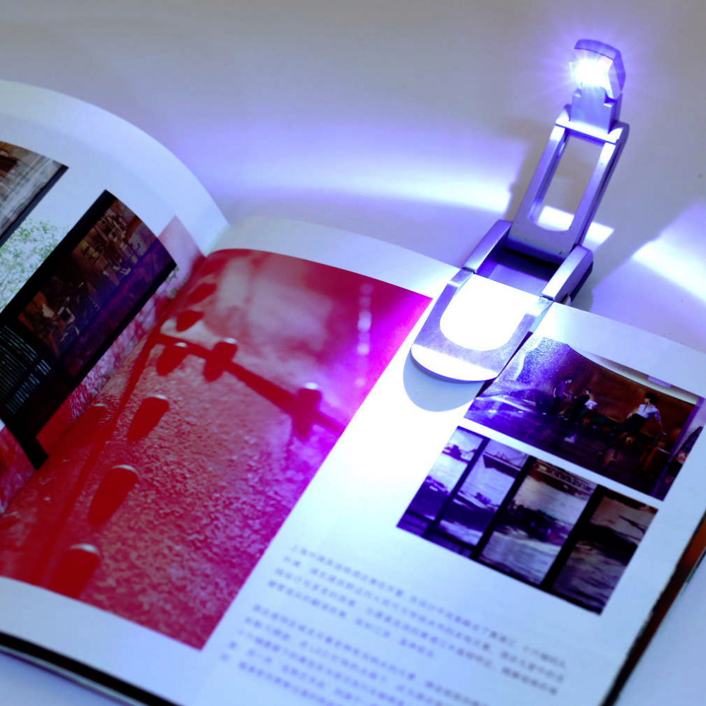 1 pcs LED Clip on Adjustable Book Reading Light Super Bright New