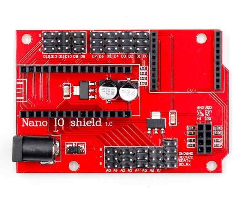 Nano 328 P IO Kablosuz Sensör genişletme kartı XBEE ve NRF24L01 Soket DIY KIT Konnektör