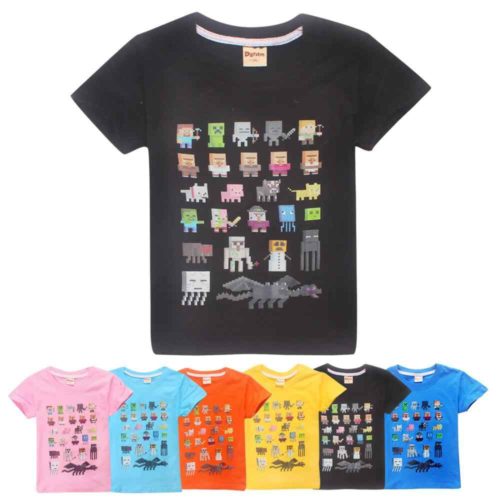 b1ac0e0c50677 Boys Tshirts 3D Cartoon Minecraft Roblox Girls T-shirts Kids Clothes Summer  Baby Boy Clothes Fashion Children Clothing Tops Tee