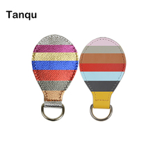 TANQU new 1 pair 2 pc PU leather Drop end for Obag handle strap shiny drop attachment for O bag handbag Women Bag