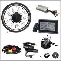 LCD Controller Brake Throttle PAS Ebike Front / Rear Wheel Conversion Kit 36V 48V 350W non Brush non Gear Motor bike bicycle