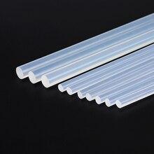50pcs/set 11mmx300mm hot melt glue stick 11mm 7mm Translucent Strong Viscosity Rods for Glue gun Home DIY Industrial Repair цена в Москве и Питере