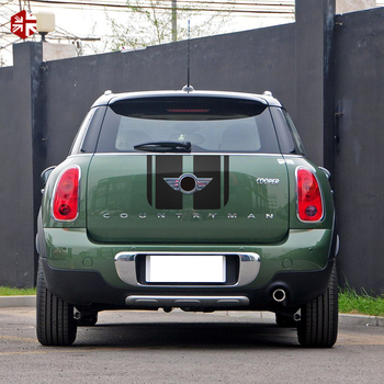 Carro de corrida capô tampa do motor tronco traseiro lado tarja adesivo corpo kit decalque do vinil para mini cooper s jcw countryman r60