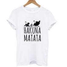 ZOGANKI Summer Fashion Women T Shirt Tops Hakuna Matata Letter Print Tops Tee Plus Size Female Short Sleeve Tees Shirt Lady Tee floral letter print tee