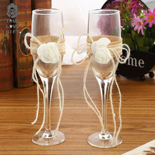 Champagne Flutes Wine Glass Crystalline Luxury Wedding Party Reception Toasting Glasses Goblet  Rhinestones Design Drinking