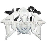 All White Motorcycle Shell For Kawasaki ZX6R ZX636 2005 2006 636 05 06 Fairings ABS Injection Plastic Bodywork