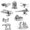 Star Wars Em Miniatura de Metal 3D Puzzle Edifício Kits Millennium Falcon Lutador 3D Jigsaw Puzzle Brinquedos Educativos para Presente Toy Modelo