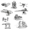 Star Wars Miniature 3D Metal Puzzle Building Kits Fighter 3D Jigsaw Puzzle Educational Toys for Gift Millennium Falcon Model Toy