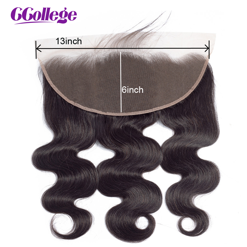 13x6 Lace Frontal Closure With Baby Hair Pre Plucked Peruvian Body Wave Frontal Closure Remy Human Hair Frontal Closures(China)