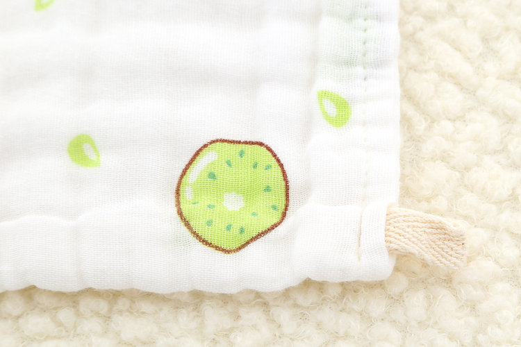 Купить с кэшбэком 5pcs/lot 6 layers Baby Towel Cotton Wipe Face Towel Muslin Gauze Newborn Bibs Infant Feeding Toddler Kids Saliva Bathing 25*25cm