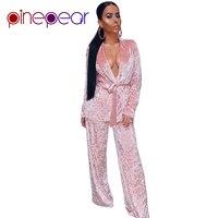 PinePear 2019 Autumn Winter Warm Thicken Velvet Pajamas Set Women Loose Nightgown Tracksuit 2 Two Piece Suit Sleepwear Femme
