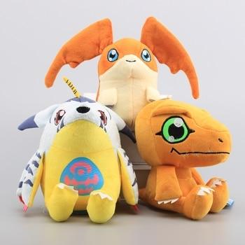 3 Pcs/Lot Digimon Adventure Agumon Gabumon Patamon Stuffed Dolls Digital Monsters Plush Toys 7″ 18 CM