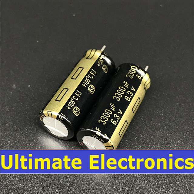 10pcs 3300uF 6.3V FJ Series 10x25mm Low ESR 6.3V3300uF Motherboard Capacitor