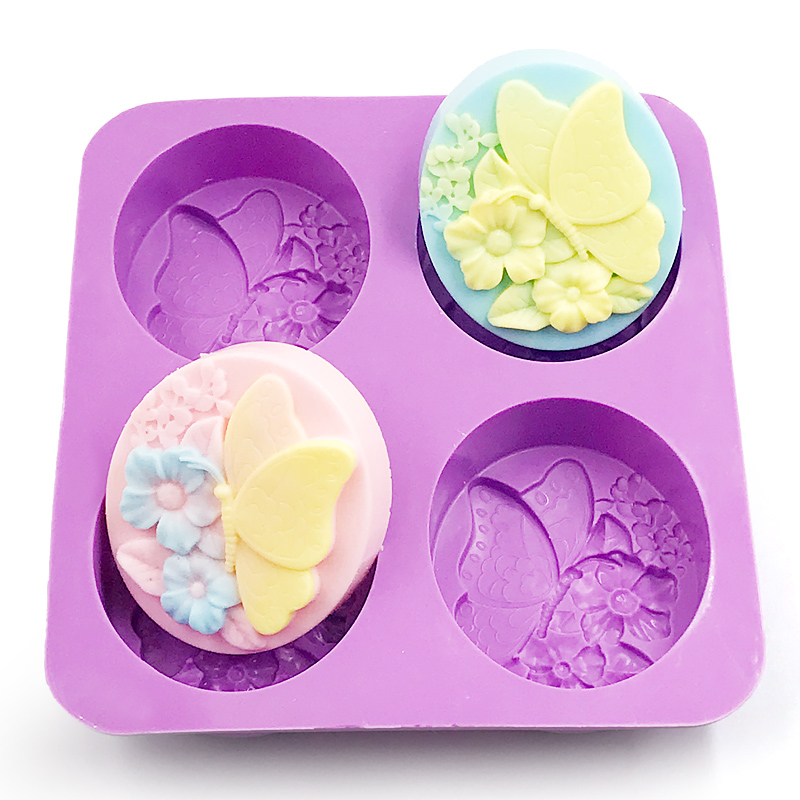 Hand Making handmade soap mold silicone making About 25g each butterfly