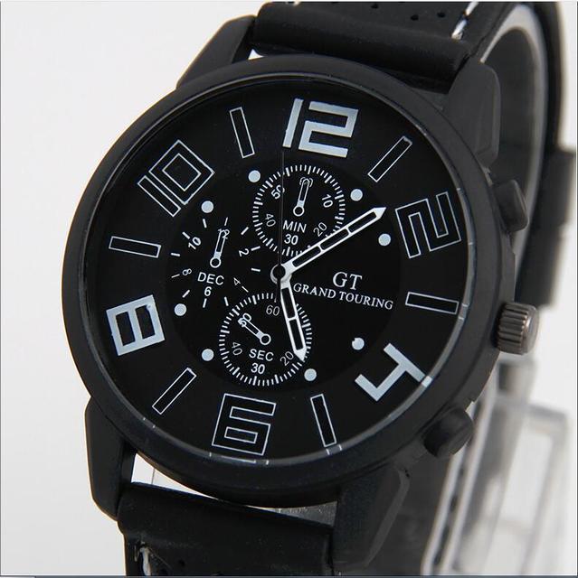 8a5d2d7bc5e Top Marca de Luxo Da Moda Pulseira Relógio de Quartzo Militar Homens Sports  Relógio de Pulso