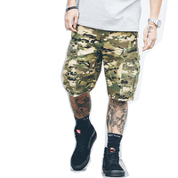 2017 Hot Sale New Arrive Men Summer Fashion Camouflage Cargo Shorts Knee Length Casual Hip