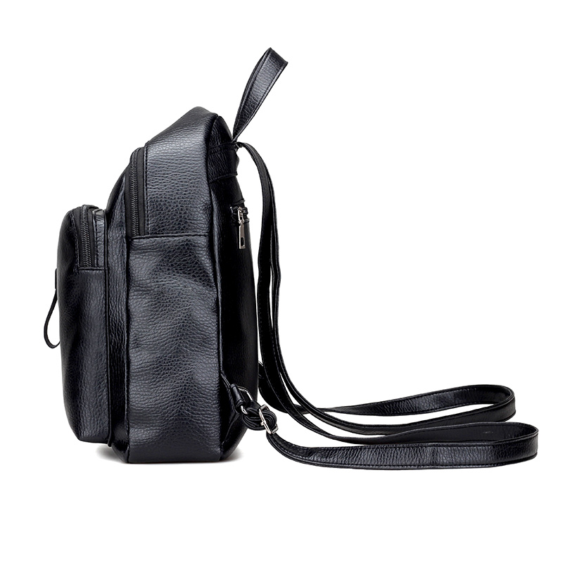 Hot Women Black Backpack Bag Female Fashion Ladies Office Work Bags Stylish  Backpacks For Teenage Girls mochilas femininas N543-in Backpacks from  Luggage ... 37a52d0a4526d