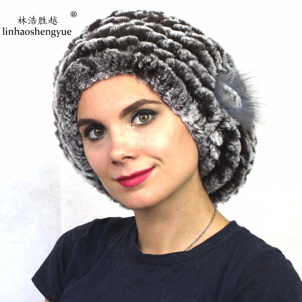 Linhaoshengyue Rabbit fur cap Elegant Beret freeshopping
