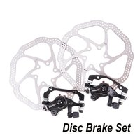 Durable Use MTB Bicycle Front Rear Brake Disc Brake For XC Mountain Bike Mechanical Disc Brake Set with Rotor Brake Lever