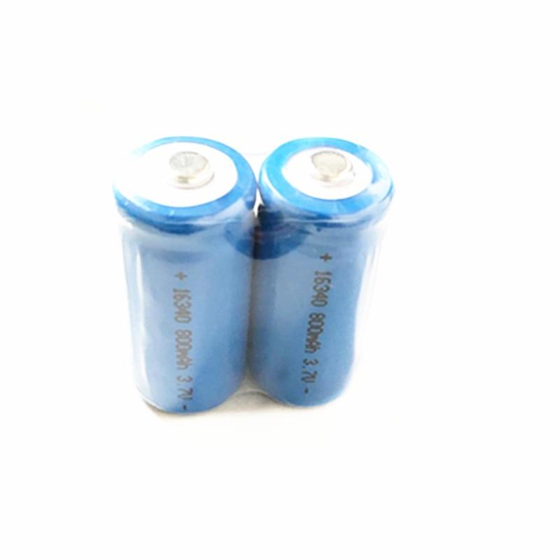 Livraison gratuite 3.7v ICR 16340 li-ion batterie 800mah CR123A CR 123A rechargeable lithium ion cellule pour laser lampe torche