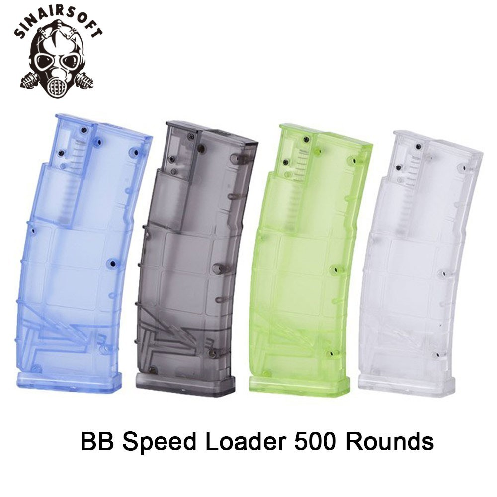 Tactical 500rd Ultra Large Capacity Plastic BB Speed Loader Fit M4 M16 G36 AK Most Of Magazine For Paintball Shooting Hunting