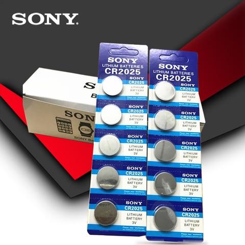 Bateria para Relógio Escala de Peso Lote Original Sony Cr2025 Botão Célula Baterias 3v Lithium Coin Calculadora 200 Pçs –