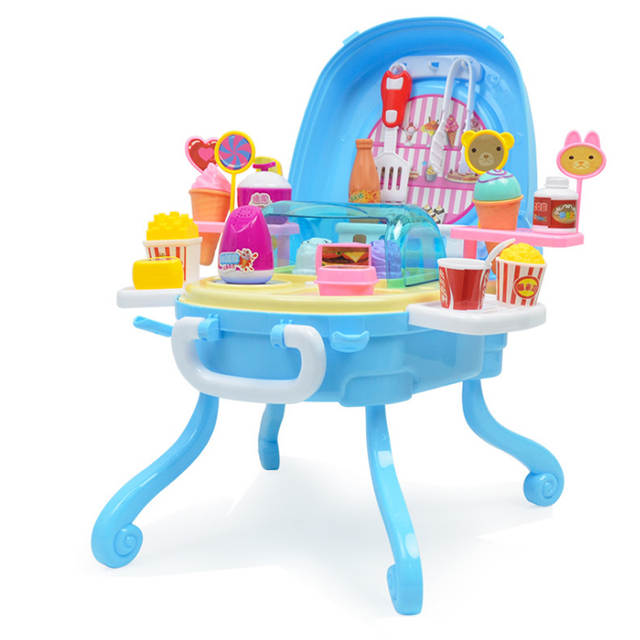 1e94e93fe54 Online Shop New Sale 41 Pcs Simulation Small Carts Girl Mini Candy Cart Ice  Cream Dessert Children  s Toys Playmate Baby Lollipops Food Toys