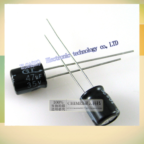 New original 35 v 47 uf electrolytic capacitor 3 c digital electronic components partsFree shipping 5*11