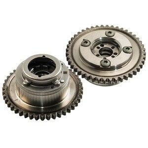 Image 2 - 2PCS גל זיזים (פליטה + צריכת) שמאי מפעיל מצלמת Gears עבור מרצדס C250 SLK250 1.8L 2710503347 2710502947 2710501400