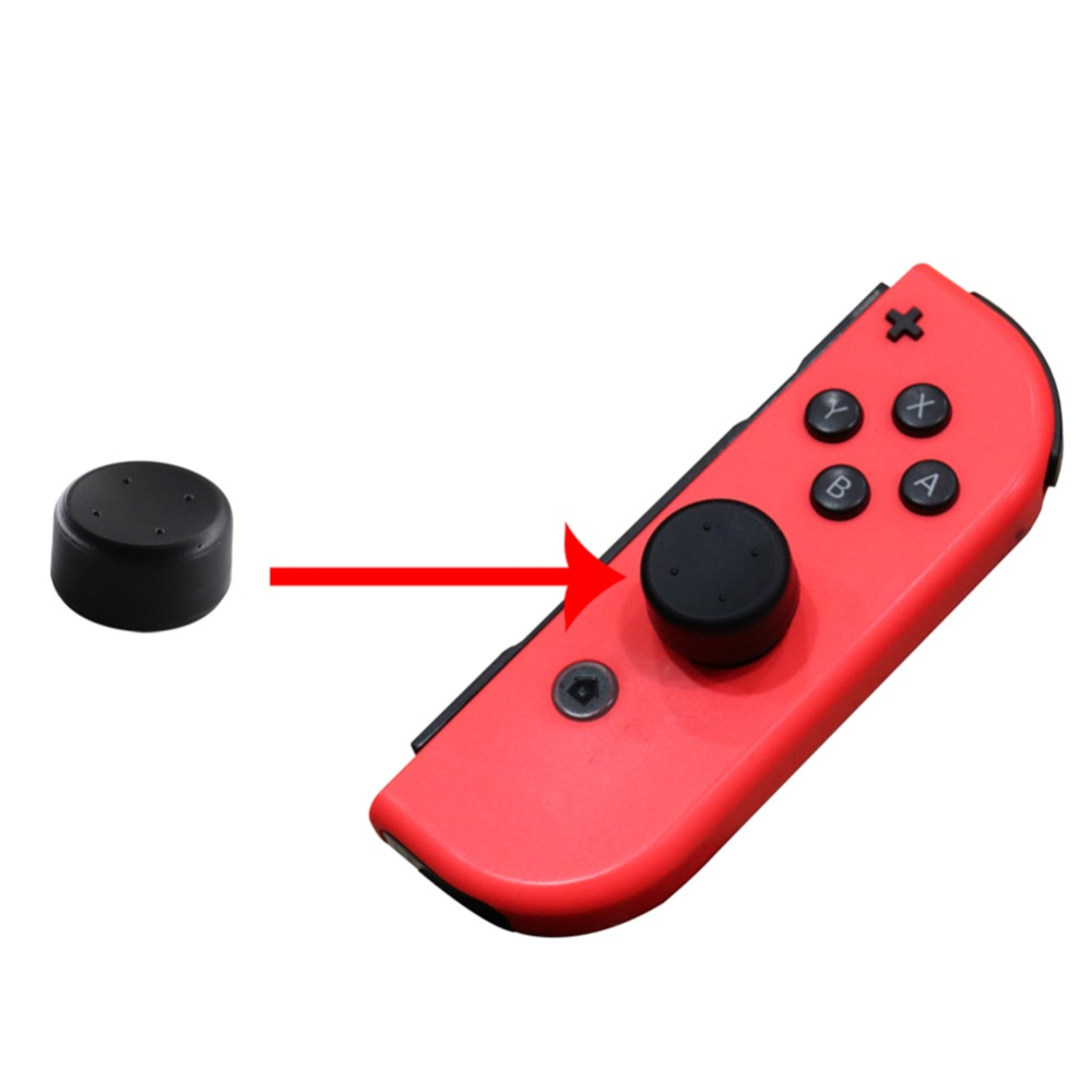 5pcs Thumb Stick Extended Grip Button Key Cap Kit Thumbstick Button Cover for Nintendo Switch NS Joy-con Controller