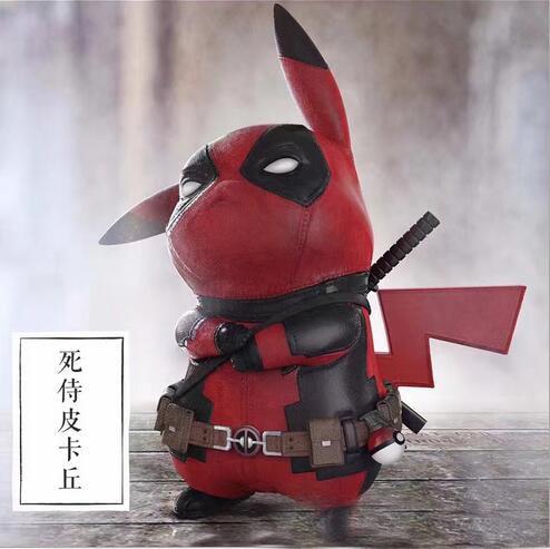 Funny Pikachu Naruto Immortal Mode Captain America Yamaguchi-gumiCosplay X-men Marvel Deadpool PVC 15cm Action Figure Toys