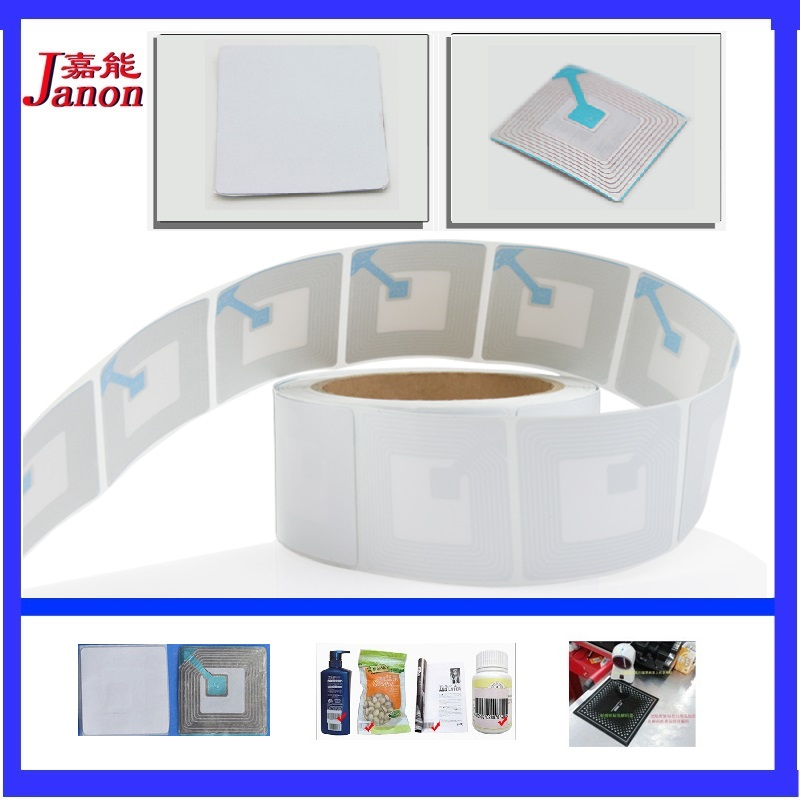 EAS Security Soft Label 1000pcs, 4cmX4cm Blank RF 8.2MHz Anti-theft Security Ahensive Soft Labels