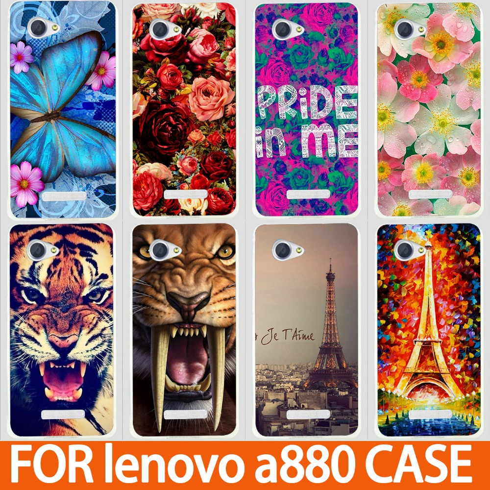 best sneakers b43f2 250fe US $1.8 |14 Paintings Hard Plastic Eiffel Tower Lion Case for Lenovo A880  Back Cover Cute Painted for Lenovo A880 Case Free Shipping-in Half-wrapped  ...