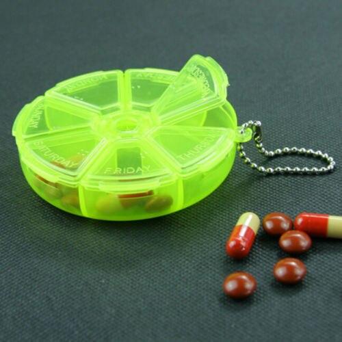 1 PCs Square Folding Vitamin Medicine Drug Pillbox Travel Pill Box Makeup Storage Case Container Pill Cases & Splitters 2