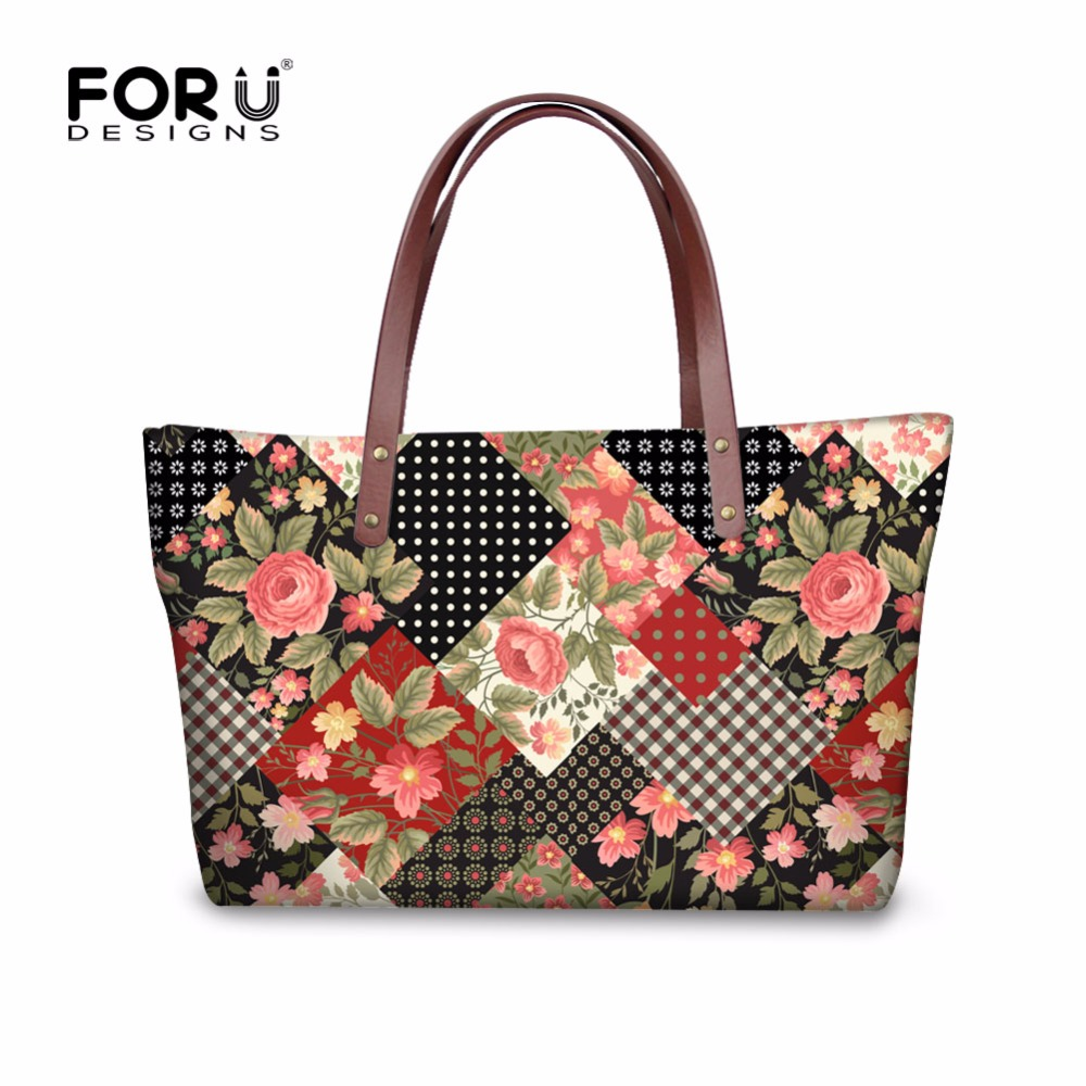 ФОТО Vintage Style Lady Top-handle Bags Famous Brand Flowers Ladies Handbags Casual Women Tote Shoulder Bags for Shopping sac a main