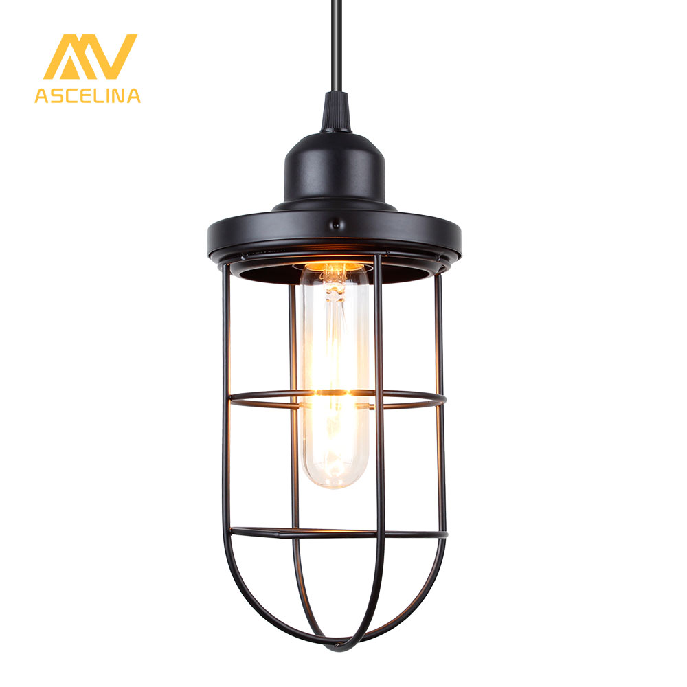 Nordic Vintage Pendant Light Loft Led Lamp Industrial Style Home Lighting Living Room Iron Suspension Luminaires E27 Lampshade nordic industrial loft wood vintage led