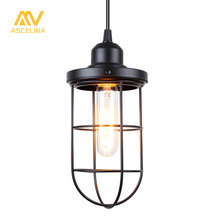 Nordic Vintage Pendant Light Loft Led Lamp Industrial Style Home Lighting Living Room Iron Suspension Luminaires E27 Lampshade