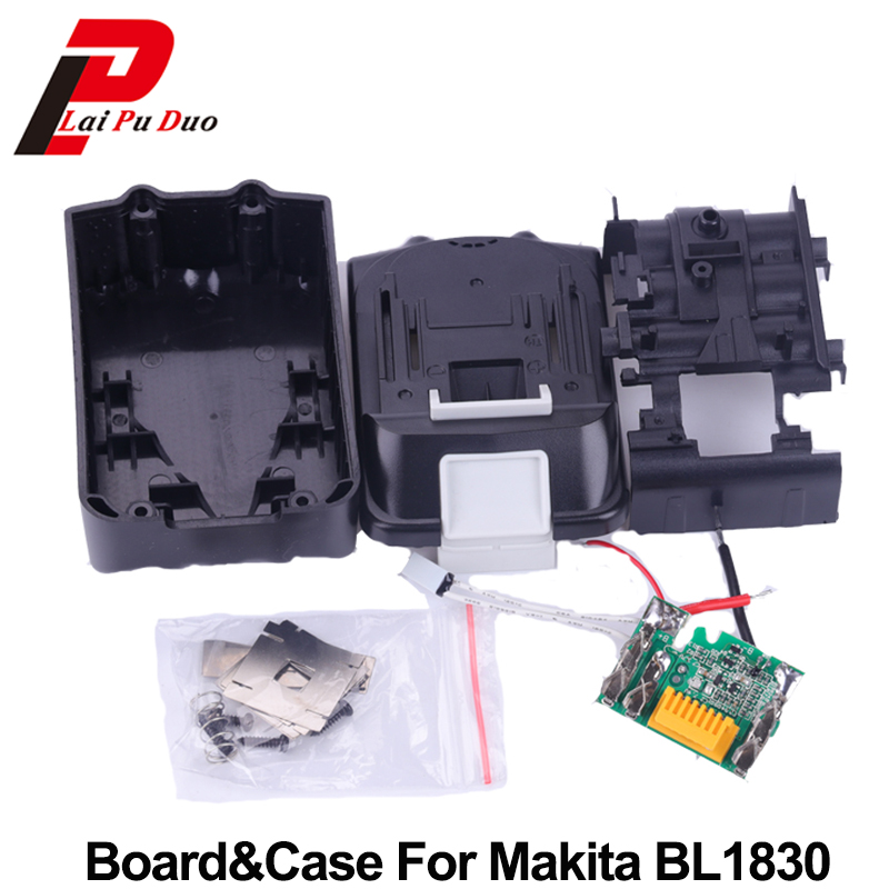 18V PCB Circuit Board With Li-ion Power Tools Battery Case Replacement for Makita BL1830 BL1840 BL1850 LXT400 Plastic Shell dawupine bat411 battery plastic case no battery cell pcb circuit board for bosch 10 8v 12v bat411 li ion battery shell box