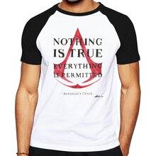 Hot Assassin creed Rogue männer baumwoll t-shirt cartoon spiel beiläufiges top tees raglan kurzarm t-shirt für männer