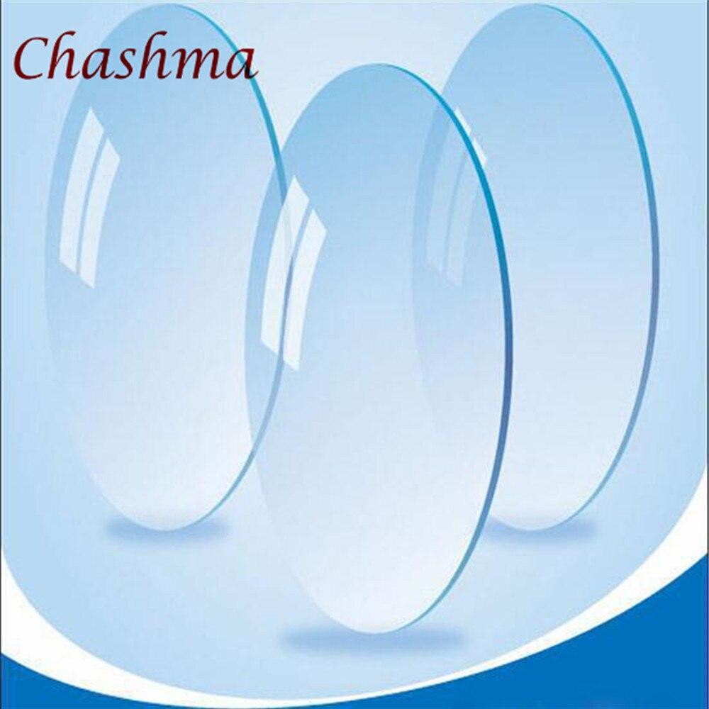 bda6bce79 تشاشما 1.61 مؤشر HD واضح عدسة عيون النظارات البصرية العدسات وصفة طبية وصفة  شفافة اللون مكافحة
