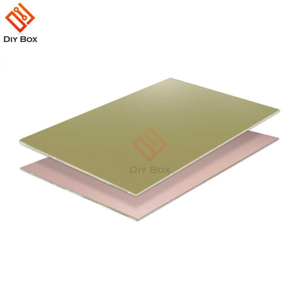 1 pièces platine de prototypage 10x15 cm simple face PCB cuivre plaqué panneau stratifié FR4 Prototype universel 1.2 MM pour bricolage 10x15 cm