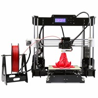 Anet A8 3D Printer High Precision LCD Display Acrylic Frame Aluminum Hotbed DIY 3D Printing Machine